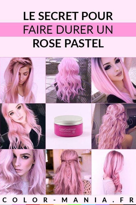 cheveux pastels roses : Comment les faire durer ?