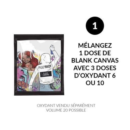 Mode d'emploi Effaceur de coloration Blank Canvas - Pulp Riot | Color-Mania