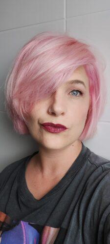 Coloration cheveux Pastel Rose Poudré - Directions photo review