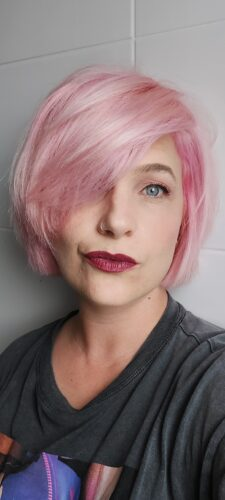 Coloration Cheveux Rose Pastel Polly Pink UV - Herman's Amazing photo review