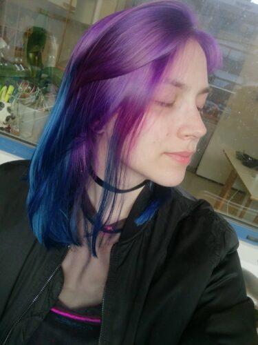 Coloration Cheveux Bleu Shocking Blue – Manic Panic photo review